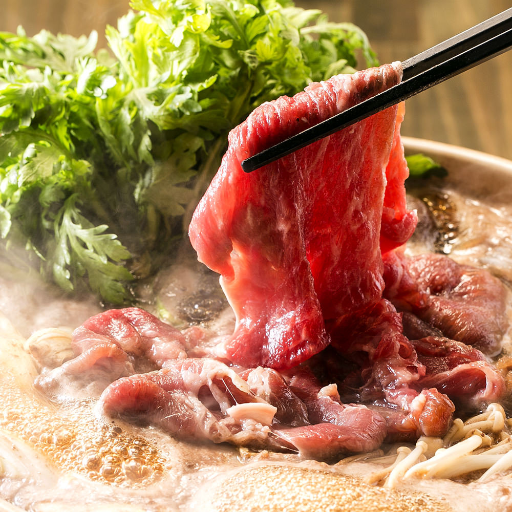 赤羽で黒毛和牛料理を楽しめる【黒毛和牛居酒屋 とりこ】のすき焼き